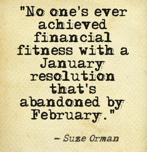Suze Orman's February quote