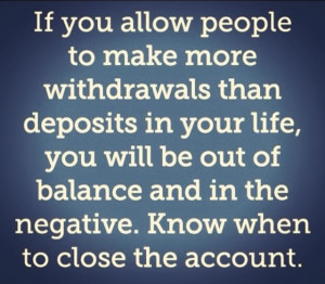 Know when to close the account!