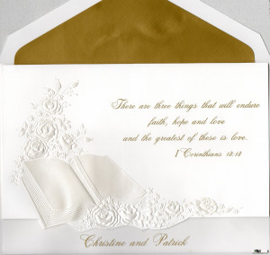 Love Quotes From The Bible For Wedding Invitations Card 7
