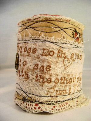 Handmade with a Rumi quote from catcreations92b .