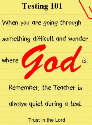Going through a tough time? Have faith.