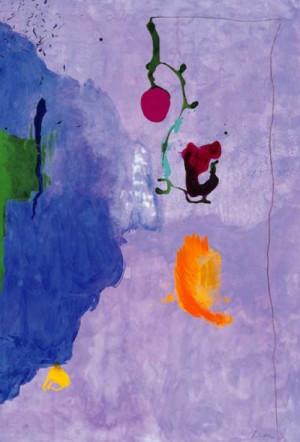 Helen Frankenthaler Eve, 1995, Acrylic on Paper, 75 x 50