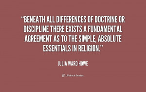 Beneath all differences of doctrine or discipline there exists a ...