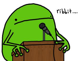 Speeches, man!