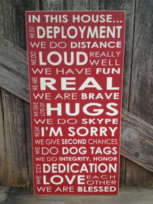 IN this House... We do DEPLOYMENT subway art home family military sign ...