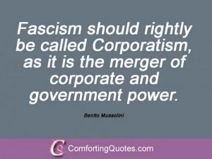 Benito Mussolini Quotes Fascism