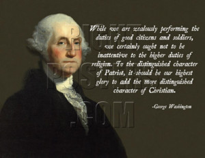 George Washington Christian Quote Poster