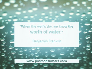 conservation quotes about the ocean | When the well's dry, we know ...