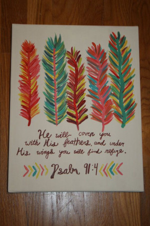 ... www.etsy.com/listing/177065460/colorful-feather-bible-verse-painting