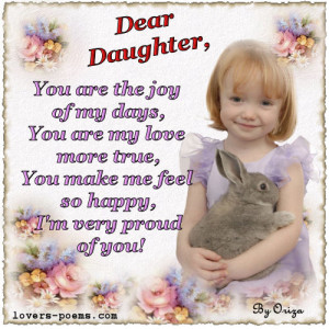 Message to daughters and sons - I Love You, Baby!! - Happy ...