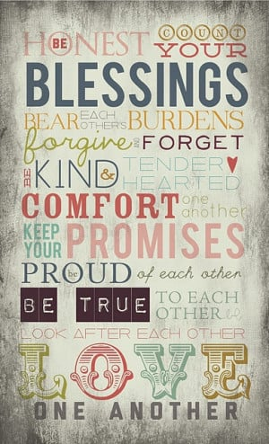 Be honest, count your blessings..