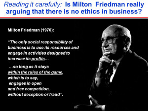 Reading it carefully: Is Milton Friedman really arguing that there is ...