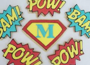Superhero/Comic Book Theme Cookies