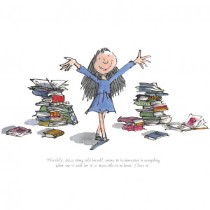... , featuring Roald Dahl's Matilda and signed by Quentin Blake