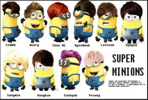 agnes, funny, gru, lol, minion, minions, music, super junior ...