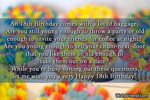 card 18th birthday quotes happy happy birthday to my sweet happy 18th ...