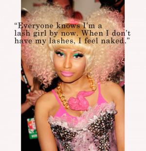 Nicki Minaj Feels Naked Without Falsies: Notable Quotables | Birchbox