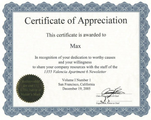 ... Email this   Tags : sample certificate of appreciation wording