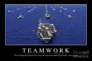 Teamwork Inspirational Quote Photograph