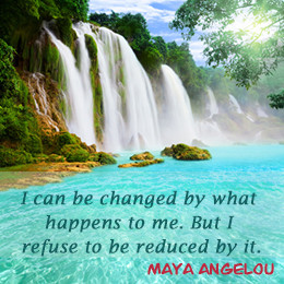 Strength quote by Maya Angelou