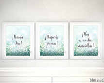 ... nursery quote print, mint nursery, spanish quote print, quote in