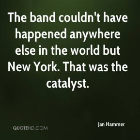 Jan Hammer - The band couldn't have happened anywhere else in the ...