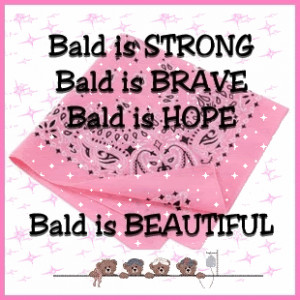 ... funny slogans bald is beautiful pink breast cancer chemotherapy chemo