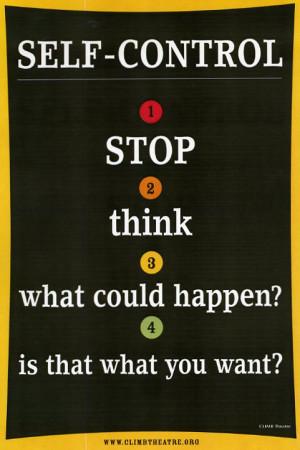 Self Control Poster