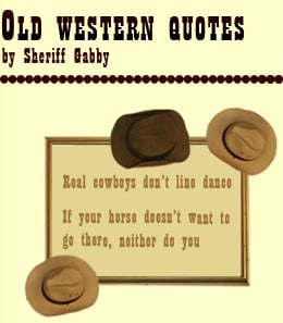 Old West Sayings Pictures