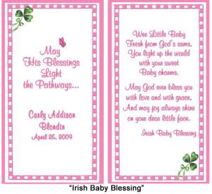 Irish Baby Blessing