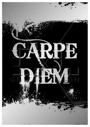 Carpe Diem poster - sieze the day inspirational art, French art, home ...