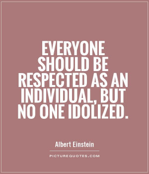 It is important to foster individuality for only the individual