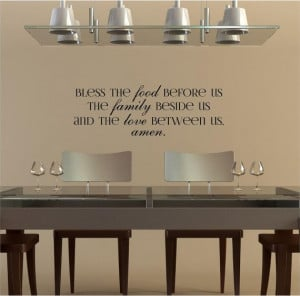 ... , The Family Beside Us And The Love Between Us, Amen vinyl wall decal