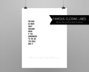 SONG OF SOLOMON // Toni Morrison // quote poster // Select a Size ...