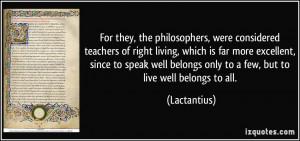 More Lactantius Quotes