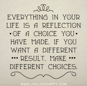 Everything In Your Life Is A Reflection Of A Choice You Have Made If ...