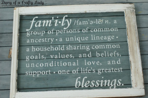 to put a sweet definition of family on the window
