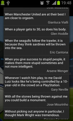 Soccer Quotes - screenshot