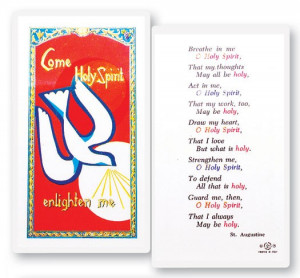 Confirmation Holy Spirit Breath Laminated Prayer Cards 25 Pack - Full ...