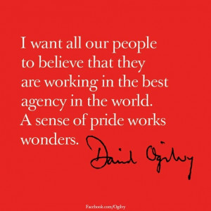 want all of our people to believe that they are working at the best ...