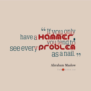 """Abraham Maslow """"Problems"""" Quote"""