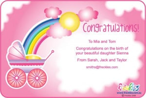 Congratulations On Baby Girl Messages