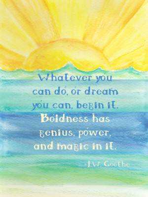 Inspirational Quote and Sunshine Art Print