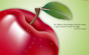 An Apple a Day Funny Quotes