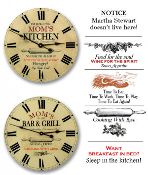 For more fun rules and sayings visit www.kitchenclocksbyjohnborin.com ...