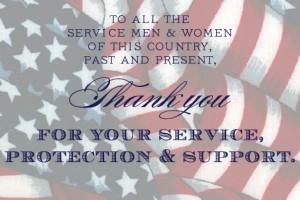 Veteran's Day Thank You