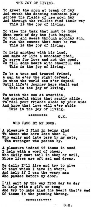 Genealogy Poem Who
