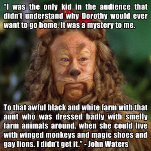 ... 1967)Bert Lahr (as the Cowardly Lion) from The Wizard of Oz, 1939