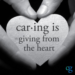 Caring is giving from the heart. If you're interested in #volunteering ...