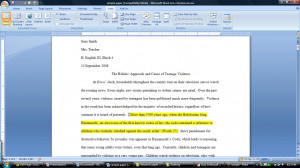 Placing quotes in an essay